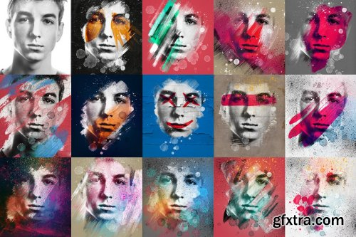 CreativeMarket - Art Photo / Portrait Template Vol.2 5359972
