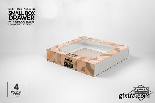 CreativeMarket - Small Box Drawer WindowSleeve Mockup 5357956