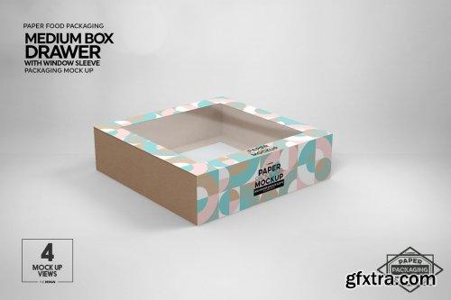 CreativeMarket - Medium Box Drawer WindowSleeve Mockup 5357961