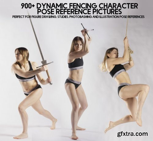 Artstation – 900+ Dynamic Fencing Character Pose Reference pictures