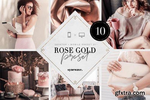 CreativeMarket - Rose Gold Lightroom Presets Bundle 5251326