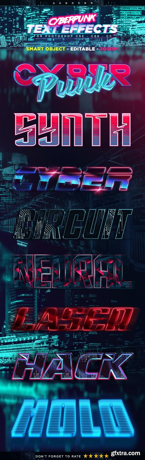 GraphicRiver - Cyberpunk Text Effects 21878876