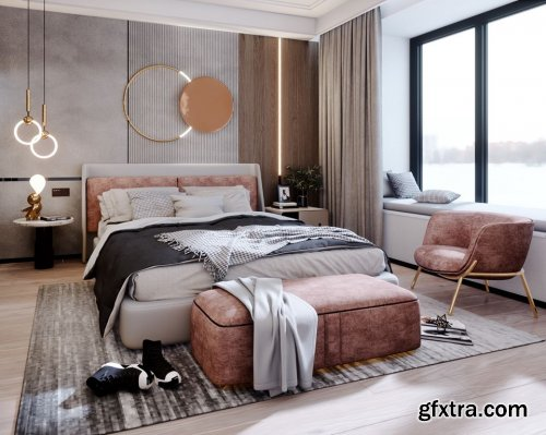 Interior Bedroom Scene Sketchup By LeTaiLinh