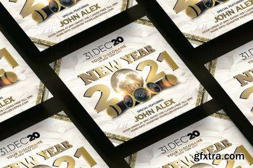 New Year 2021 Square Flyer