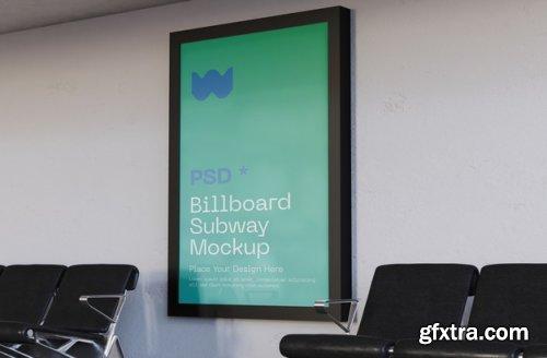 Billboard subway mockup