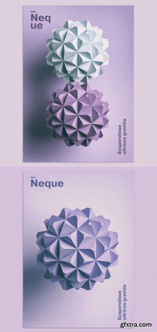 Minimalist 3D Design and Typography Poster Layout 377384152