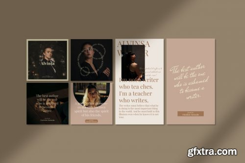 CreativeMarket - Alvinsa - Instagram Post & Stories 4982655