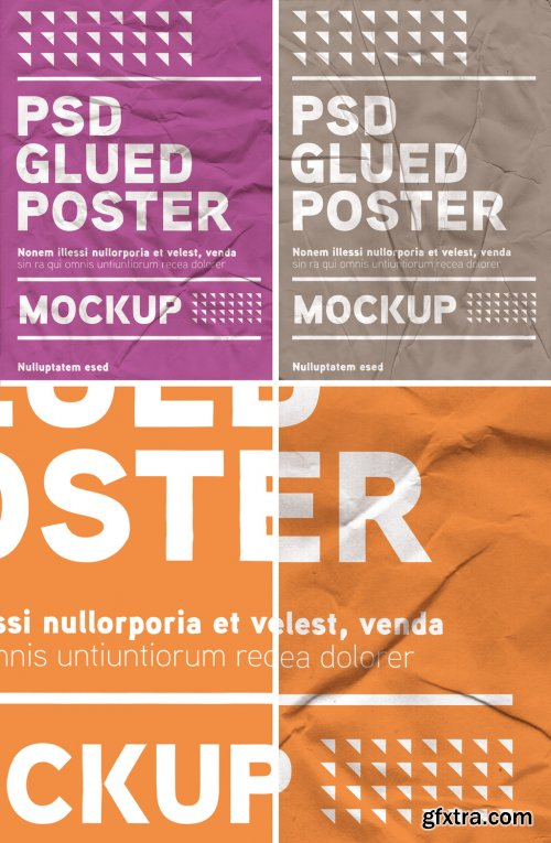 Glued Wall Poster Effect 379965335