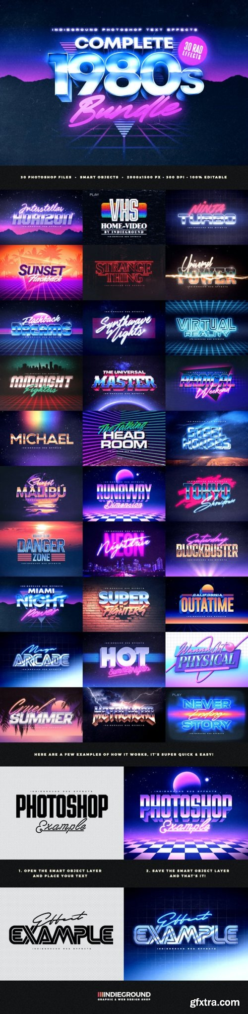 GraphicRiver - 80s Text Effects Complete Bundle 28703930