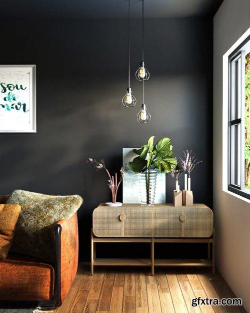Interior Livingroom Scene Sketchup By NguyenDinhQuoc