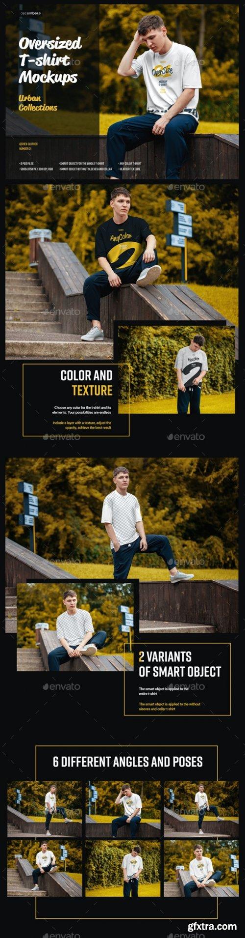 GraphicRiver - 6 Oversized T-shirt Mockup Urban Style 28713242