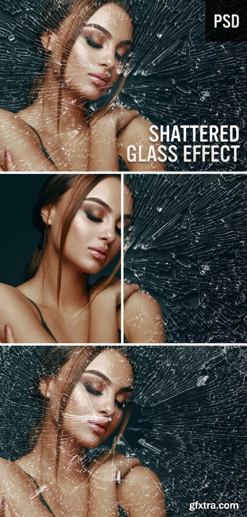 Shattered Glass Photo Effect 380431609
