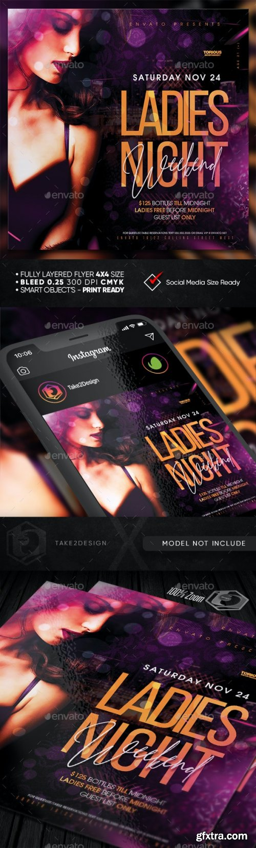 GraphicRiver - Ladies Night Flyer Template 28449392