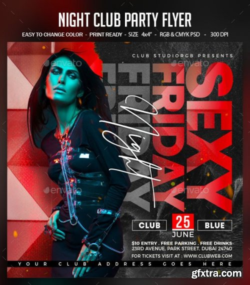 GraphicRiver - Night Club Party Flyer 28450646