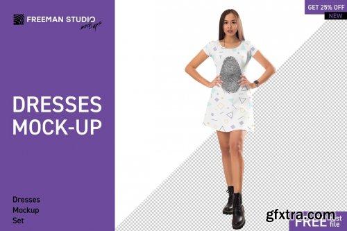 CreativeMarket - Dresses Mock-Up Set 4514985