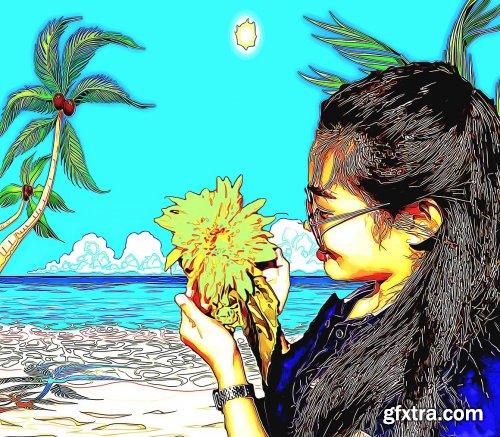 CreativeMarket - Vexelator Cartoon Photoshop Action 5340724