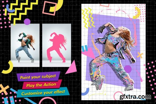 CreativeMarket - Back to the 90s Photoshop Action 5335278
