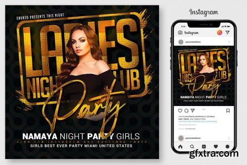 CreativeMarket - Ladies Club Night Party Flyer 4967065