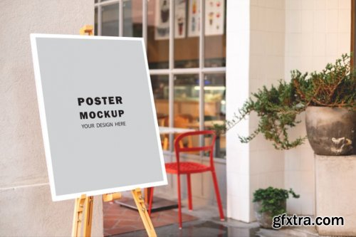 Mockup poster special promotion