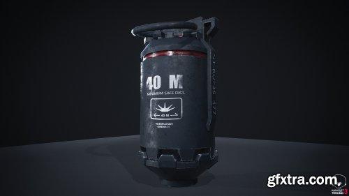 Hmx explosive grenade