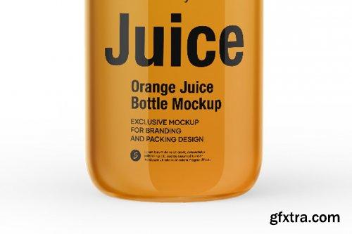 CreativeMarket - Orange Juice Bottle Mockup 5436779