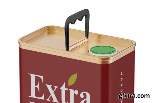 CreativeMarket - Matte Olive Oil Tin Can Mockup 5373438