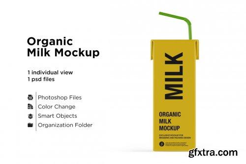 CreativeMarket - Organic Milk Mockup 5436758