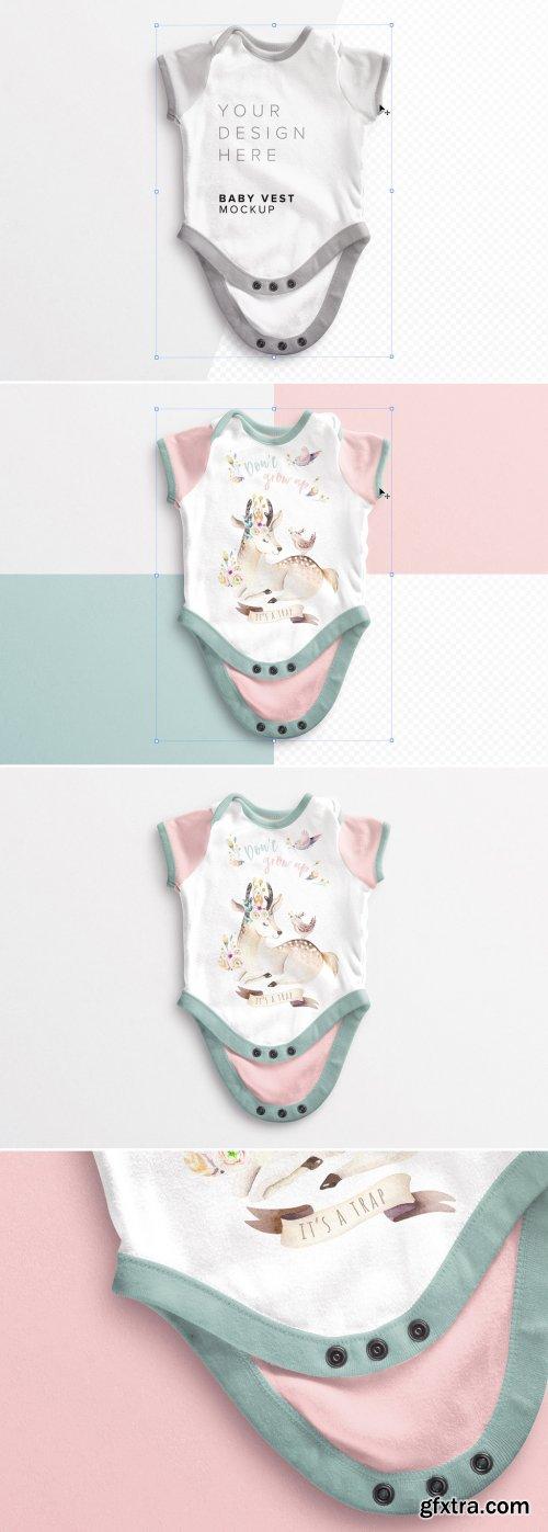 Baby Vest Open Mockup 381437155