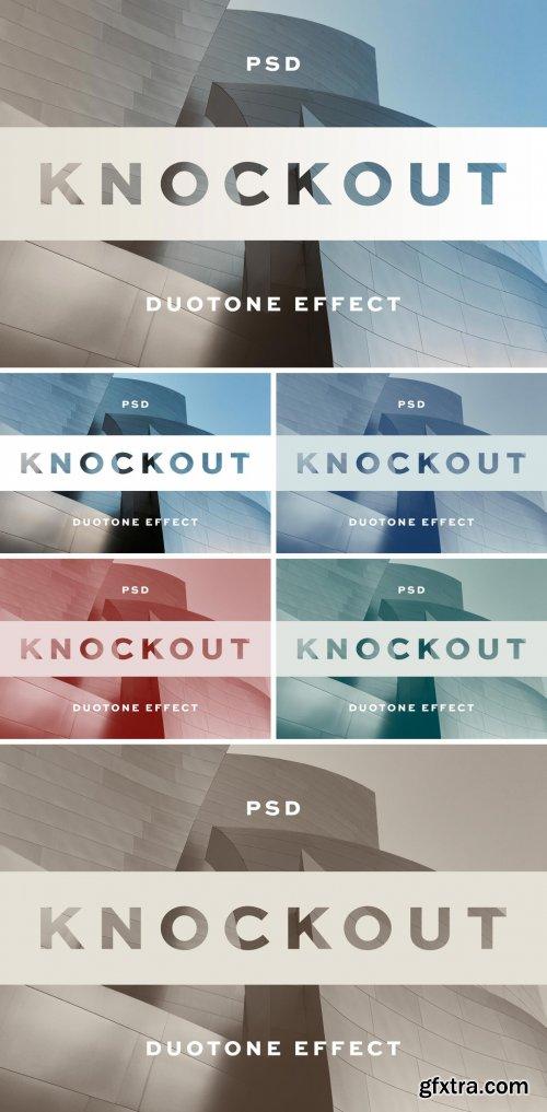 Knockout Text Effect Logo Mockup 381443619