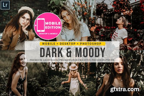 CreativeMarket - Dark and Moody Lightroom Presets 4842930