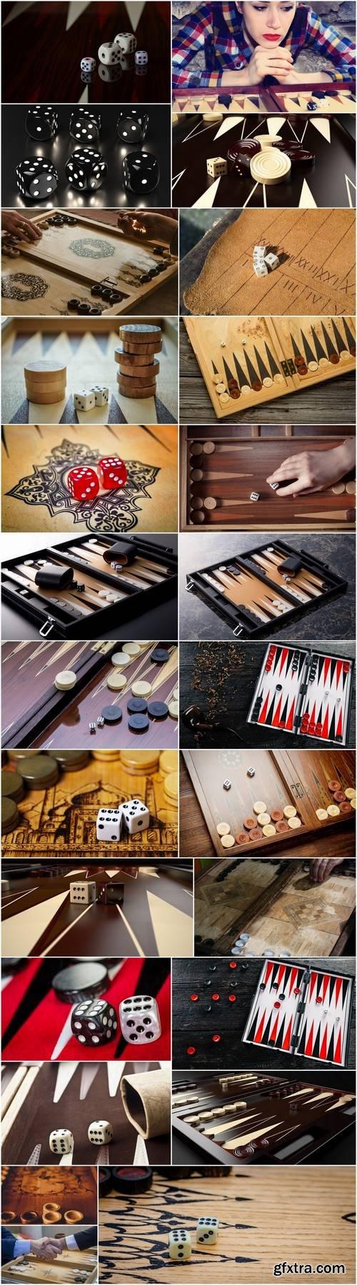 Backgammon dice board 25 HQ Jpeg