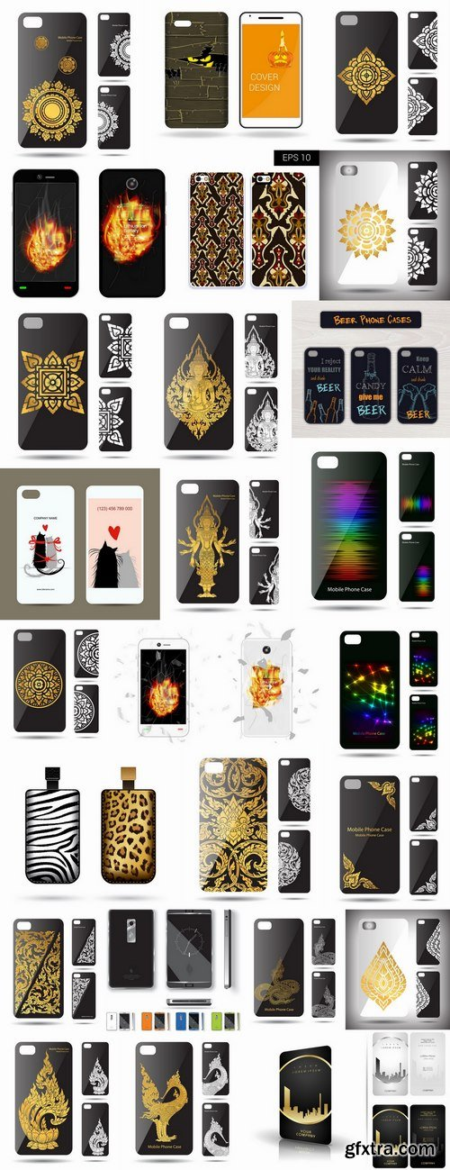 Cover for mobile phone case bag a tablet a vector 25 EPS