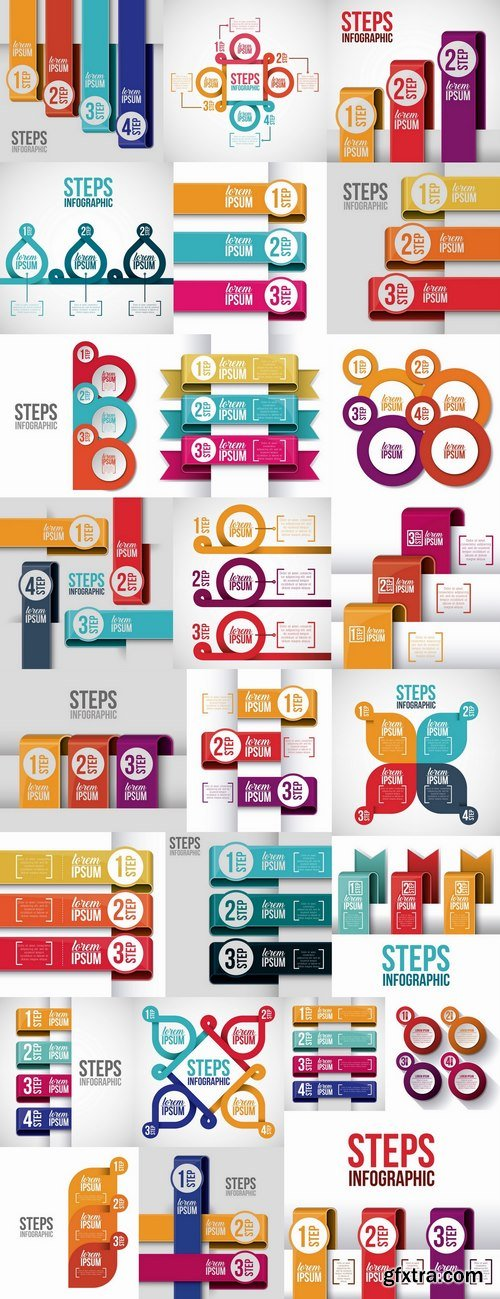 Business infographics template is an example of a web site is a step by step calculation 25 EPS