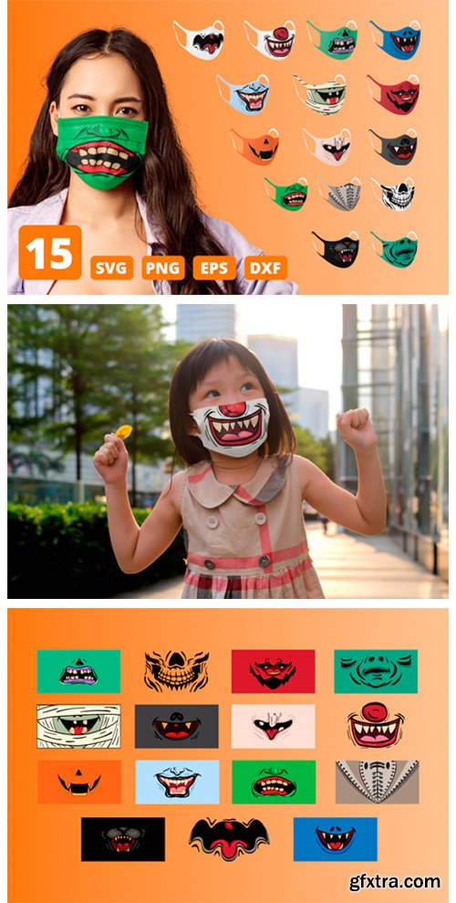 Halloween Funny Face Mask Patterns 5818575
