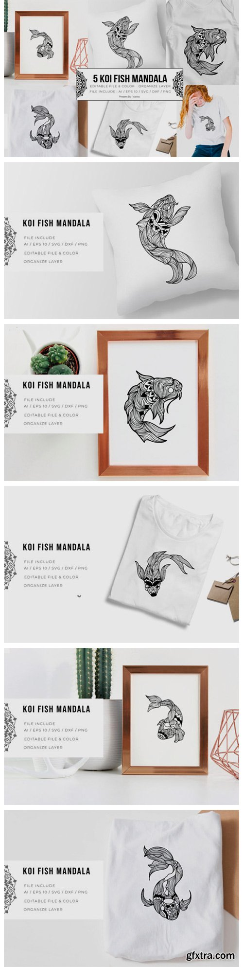 5 Koi Fish Bundle | Mandala 5795473