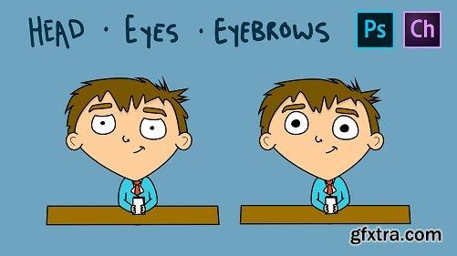 Adobe Character Animator for Beginners - Head - Eyes - Eyebrows