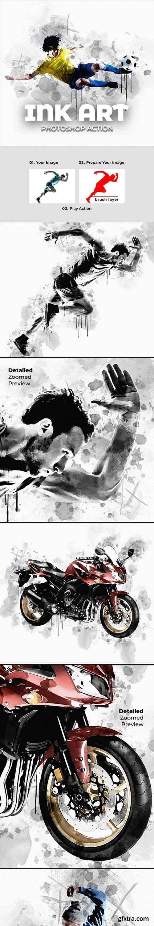 GraphicRiver - Ink Art Photoshop Action 28285461