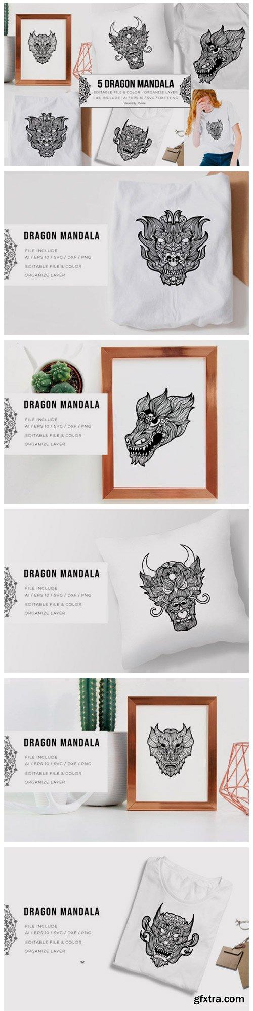 5 Dragon Bundle | Mandala 5794247