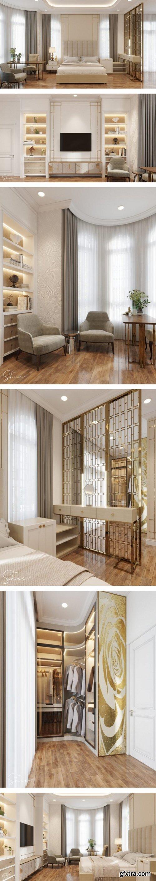 3D Interior Scene Bedroom By AnNguyen
