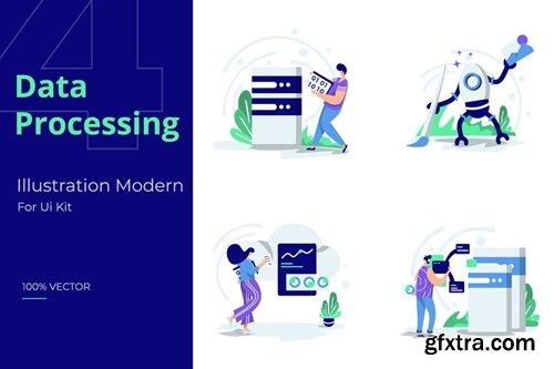 Illustration set Data Processing