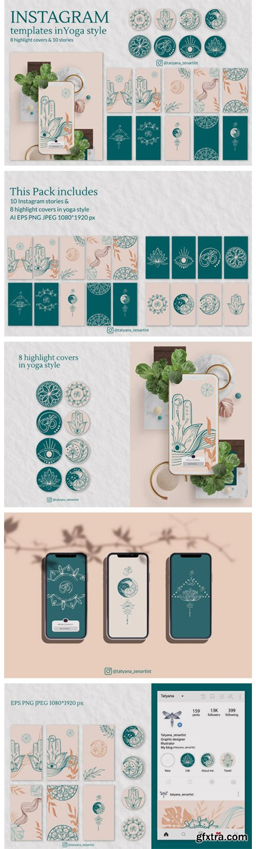 Instagram Template in Yoga Style Vers. 2 4701052