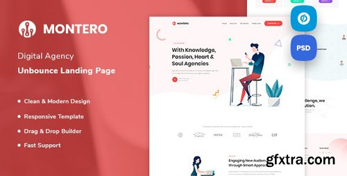ThemeForest - Montero v1.0 - Digital Agency Unbounce Landing Page Template - 24684367