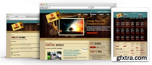 RocketTheme - Grunge v1.6 - Joomla Theme (Update: 1 April 2020)