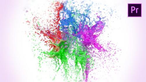 Videohive - Splashing Paint Logo Reveal II – Premiere Pro
