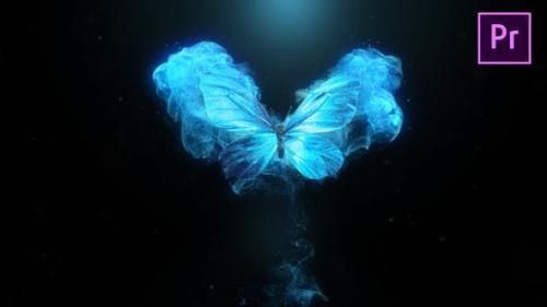 Videohive - Flying Butterfly Logo Reveal 4k- Premiere Pro