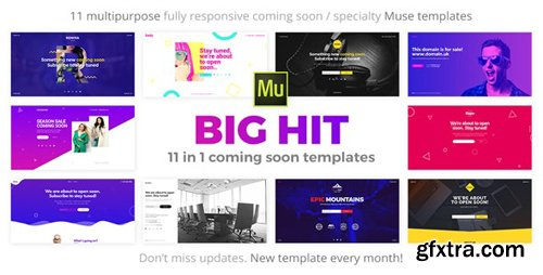 ThemeForest - BigHit v1.1 - 11 in 1 Coming Soon Responsive Muse Templates - 19466892