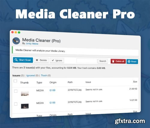 MeowApps - Media Cleaner Pro v6.0.7 - Delete Unused Files From WordPress - NULLED