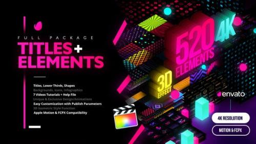 Videohive - Modern Pack of Titles and Elements for FCPX - 4K