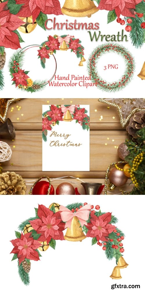 Christmas Frames. Watercolor Clipart. 6044174