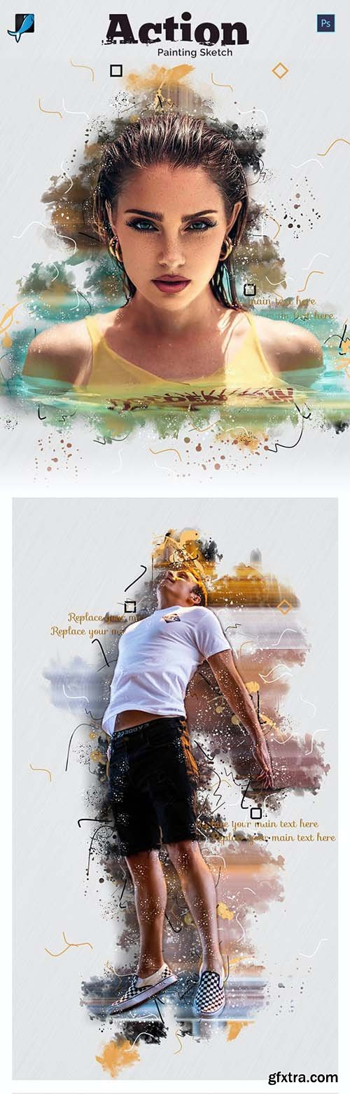 GraphicRiver - Painting Sketch Photoshop Action 28803321